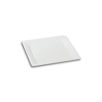 70438 24 pz piatti piani quadrati 172x172x10 mm 28,799 g PS bianco