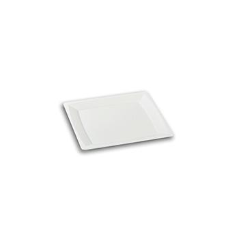 70450 24 pz piatti piani quadrati 136x136x8 mm 18,24 g PS bianco