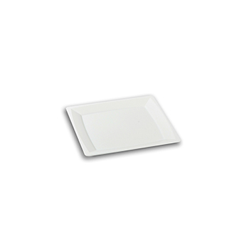 70450 24 st flacher teller eckig 136x136x8 mm 18,24 g PS weiß