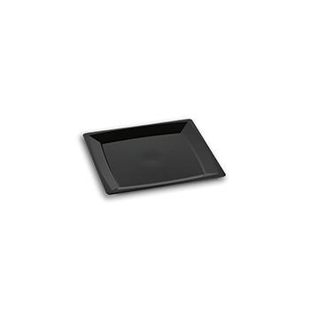 70452 24 st flacher teller eckig 136x136x8 mm 18,24 g PS schwarz