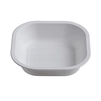 70464 50 pz piatti extra fondi quadrati 180x180x45 mm 17,5 g PPC bianco