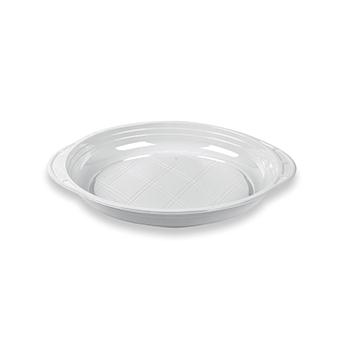 70494 50 pz piatti piani slidedish diam. 210 mm 12 g PS bianco