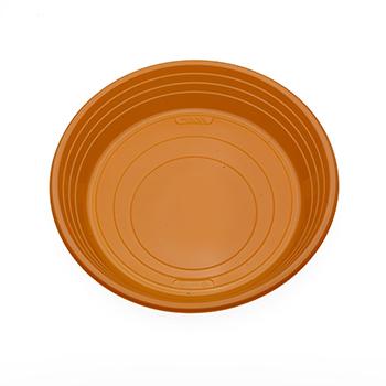 70504 25 pz piatti piani diam. 210 mm 11 g PS arancione