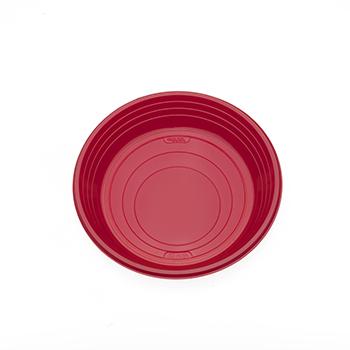 Singolo pezzo di 25 pz piattini dessert diam. 165 mm 7 g PS rosso