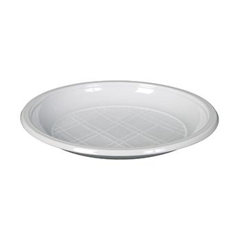 70543 20 pzs platos de postre diam. 165 mm 5,5 g PLA blanco