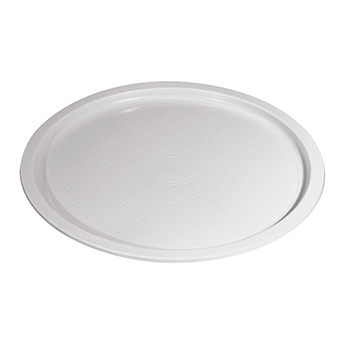 70552 50 pzs platos para pizza diam. 315 mm 30 g PS blanco