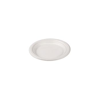 70781 50 pcs assiettes a' dessert diam. 17,5 cm 8,4 g POLPA DI CELLULOSA blanc
