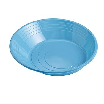 70853 25 pz piatti fondi diam. 210 mm 11 g PS azzurro