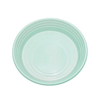 Singolo pezzo di 25 pz piatti piani diam. 210 mm 11 g PS verde