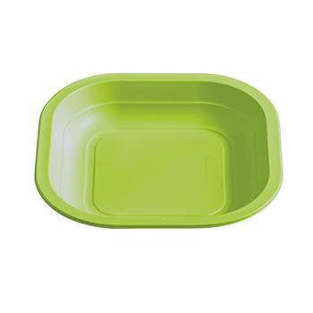 70980 50 pz piatti piani quadrati 180x180x25 mm 11,5 g PPC verde