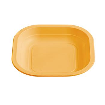 70984 50 pz piatti piani quadrati 180x180x25 mm 11,5 g PPC arancione
