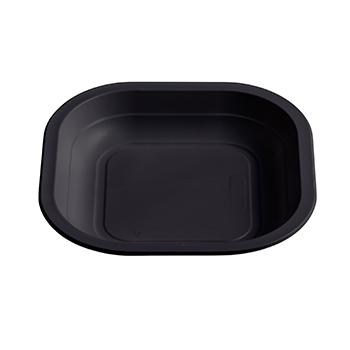 71020 50 pz piatti piani quadrati 180x180x25 mm 11,5 g PPC nero