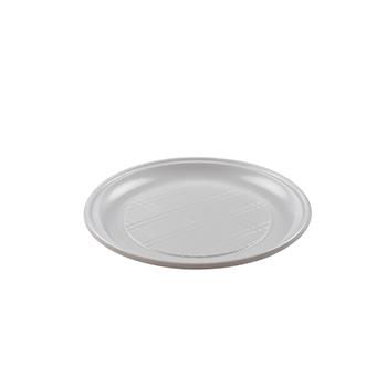 Una sola pieza de 12 pzs platos llanos diam. 210 mm 16 g MATER-BI blanco