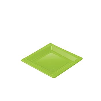 71083 20 pz piattini dessert diam. 165 mm 8 g PS verde