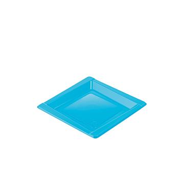71084 20 pz piattini dessert diam. 165 mm 8 g PS azzurro