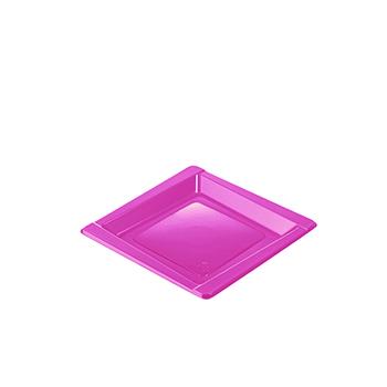 71085 20 pz piattini dessert diam. 165 mm 8 g PS rosa