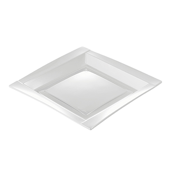 71090 20 pz piatti piani quadrati 208x208x18 mm 18 g PS bianco