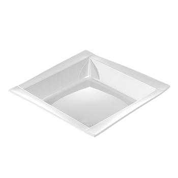 71091 20 pz piatti fondi quadrati 208x208x33 mm 18 g PS bianco