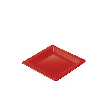 71102 20 pz piattini dessert diam. 165 mm 8 g PS rosso