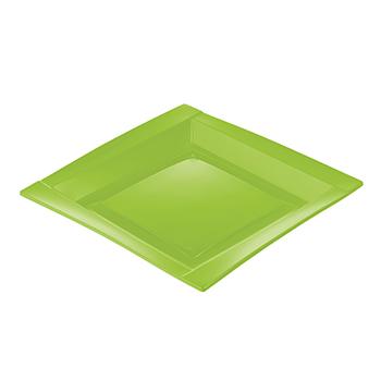 71105 20 pz piatti piani quadrati 208x208x18 mm 18 g PS verde