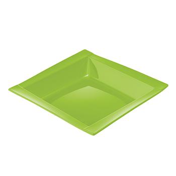 71110 20 pz piatti fondi quadrati 208x208x33 mm 18 g PS verde