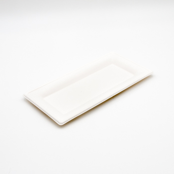 71183 50 pzs platos rectangulares 260x130x15 mm 19 g PULP blanco