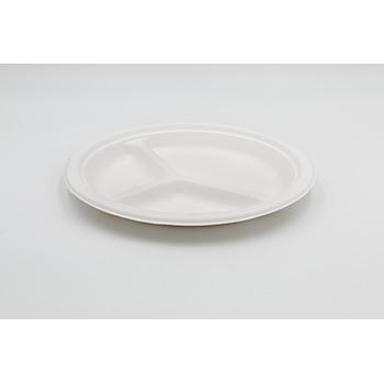 71201 50 pz piatti triscomparto diam. 26 cm 20 g PULP bianco