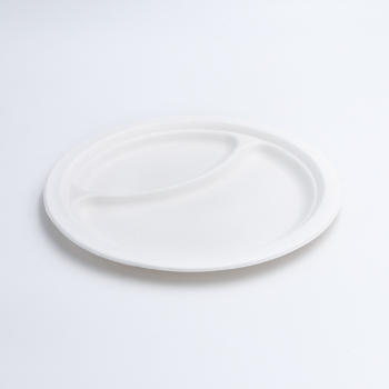 71203 50 pz piatti biscomparto diam. 22 cm 14 g PULP bianco