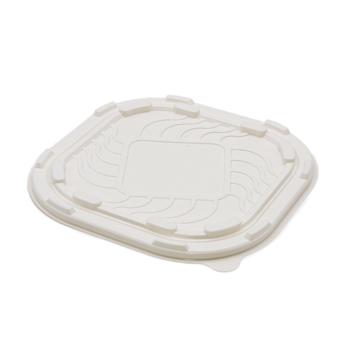 71402 75 pz coperchi piatti 180x180x5,5 mm 14 g MATER-BI trasparente