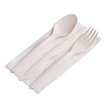 80841 200 pcs cutlery set 24,5x9x1,5 mm 17,9 g MATER-BI white