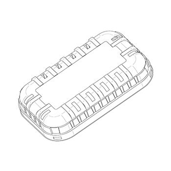 21279 coperchi per cestini CF13 193x120x36 mm non codificato RPET trasparente a 10g