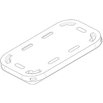 21076 coperchi per cestini CF22 190x118x36 mm non codificato RPET trasparente a 10g