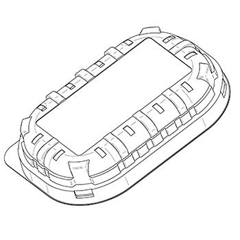 20403 coperchi per cestini CF23 146,5x98x28 mm non codificato PLA trasparente 5,300g