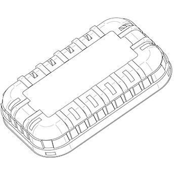 21586 coperchi per cestini CF30 199,6x124,3x36 mm non codificato RPET trasparente a 10g