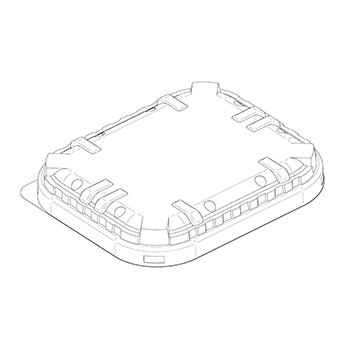 21816 coperchi per cestini CF9 147x123x16 mm non codificato RPET trasparente a 8g