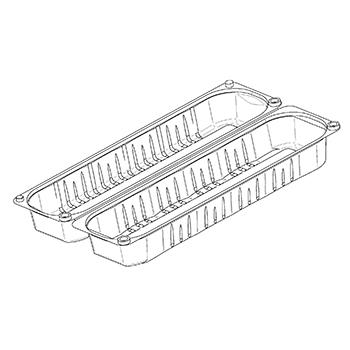 21925 cestini clamshell SET B44 283x77x70 mm 500 gr RPET trasparente a 26g