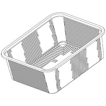 51181 B26 151,5x190,5x80 mm RPET transparent a 12g
