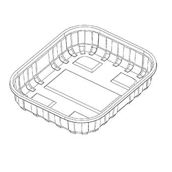 22822 cestini B48 141x118x45 mm 125 gr RPET trasparente a 7g