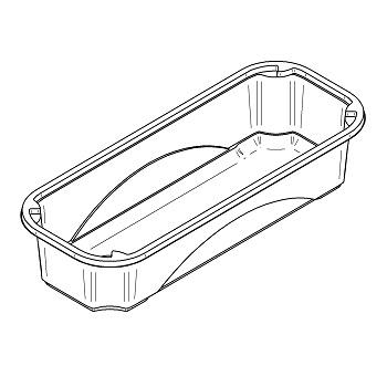51267 B53 193x77x50 mm RPET transparent a 4,800g